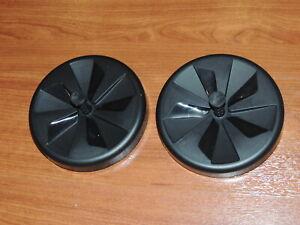 New Genuine BLACK Rear Wheels for Hoover SmartWash+ FH52000 FH52001 FH52000G