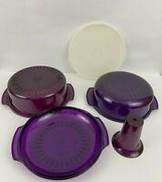 Tupperware TupperWave Stack Cooker ~ Purple  5 pc Microwave Cooking