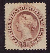 Newfoundland stamp #28a, MHOG,VVF, Yellowish Paper, QV, 1865-94, SCV $600