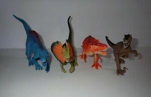 Lot Of Dinosaurs Action Figures Boley T Rex Dilophosaurus Velociraptor Spinosaur