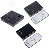 3/5 Port 1080P HDMI Switch Switcher Splitter Hub+Remote for PS3 lot Remarkable