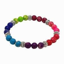 Chakra Bracelet MULTI COLOR 7 Different Gem Stones by ZILA COMPANY, Yoga Healing