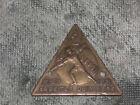 Messing-Abzeichen mit 2 Löcher-Wien 1931 Arbeiterolympiade ohne Nadel