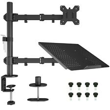 """Laptop Notebook Stand Monitor Arm Desk C-Clamp Mount Fully Adjustable 13""""-27"""""""