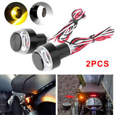 2 x Motorcycle Turn Signal LED Light Indicator Blinker Handle Bars End Handlebar