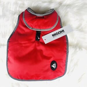 MIGOHI Reflective Waterproof Windproof Dog Coat Jacket Size Small Red - C