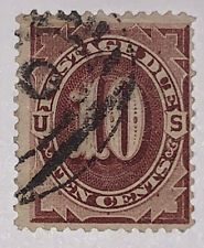 Travelstamps:1884-1889 US Scott# J19, Used, Ng Postage Due , 10 cents