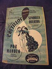 Partition Senorita Querida Por Manolo Julian Castillos  Music Sheet