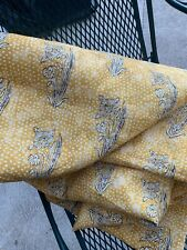 Lisa Fine Textiles Handprinted Dotted Floral Fabric~Kalindi Saffron~4 4/5 yds~