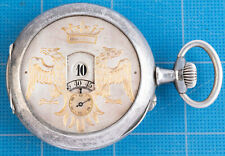 Swiss? Pocket Watch for Repair! Antique Digital Dial Sterling Silver