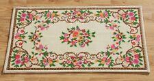 Teppich Läufer Brücke Fußmatte beige Blumenranken Blumen creme rutschfest Matte
