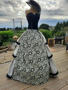 Steampunk Victorian Edwardian Cosplay Theatre hitch bustle 'Alice' Skirt and Hat