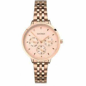 Sekonda Ladies Larger size rose Gold Plated watch RRP £99.95