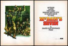 McBAIN / McBain's Seven__Orig. 1990 Trade print AD / poster__CHRISTOPHER WALKEN