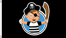 Little Pirate Captain Children's Birthday Party Banner 5'x3' Flag