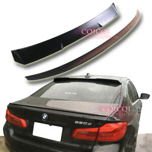 Unpainted BMW G30 5-series Sedan V type roof + performance type trunk spoiler◎