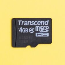 Transcend 4GB Micro SD (MicroSD) SDHC [Class 4] Memory Card for Phones, Cameras