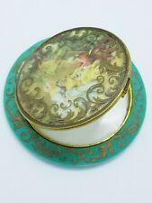 Vintage French Celluloid Picture Powder Compact