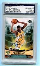 Kevin Durant 2007 Upper Deck Auto PSA/DNA Certified Authentic Rookie RC