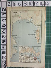 Map/battle plan ~ Gibraltar 1779-83 ~ británico y español Fort St Philip