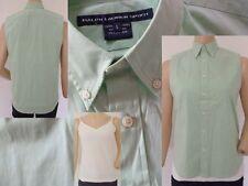 Ralph Lauren Sport Sommer Set Damen ärmellose Bluse mint & Top weiss M (6) 1A
