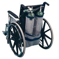 EZ-Access Wheelchair Oxygen Tank Holder Carrier - Dual Tank