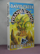 1st,signed by 3,Pyramid Scheme by David Freer,Eric Flint (2001) uncorreted proof