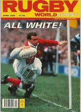 Rugby World Magazine Avril 1990-l'Écosse Grand Chelem, v Pays de Galles & France