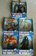 "FANTASTIC 4 Lot of 5 Figures 12"" THING,INVISIBLE WOMAN,MR F,HUMAN TORCH,DR DOOM"
