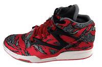 Reebok Pump Omni Lite Red / Grey / Steel Basketball Shoes Size 9