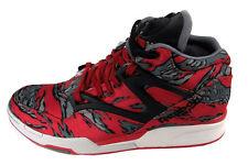 Reebok Pump Omni Lite Red / Grey / Steel Basketball Shoes Size 7.5