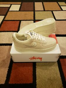 Nike Air Force 1 Low Stussy Fossil CZ9084-200 Authentic New Deadstock IN HAND