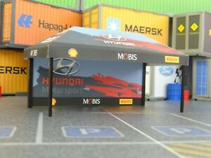 Rally Display Diorama Model 1:43 Sport Cars Small Tent For Car Model
