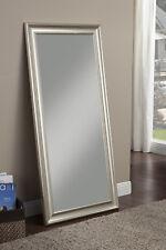 Champagne Silver Full Length Leaner Floor Mirror