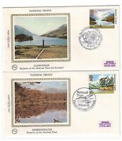 GREAT BRITAIN 1981 NATIONAL TRUST SCOTLAND SET 5 BENHAM SILK FIRST DAY COVERS