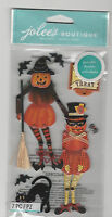 Jolee's POSEABLE  MOVEABLE JACK-O-LANTERNS 3D Stickers halloween