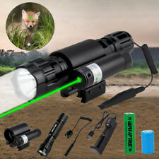 Combo Red/Green Laser Sight+LED Flashlight 20mm Picatinny Rail Mount For Rifle