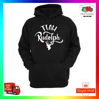 Team Rudolph Hoodie Hoody Unisex Jolly Christmas Xmas Funny Reindeer Red Nose