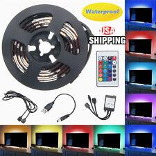2pcs 50cm 5V USB LED RGB Strip Light Background Lighting For TV HDTV PC Back US