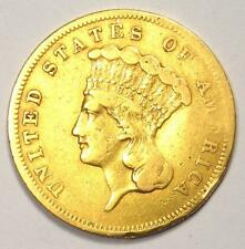 1856-S Indian Three Dollar Gold Coin ($3) - VF Details - Rare Date Coin!