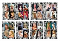 BRIGITTE BARDOT movie star 8 SOUVENIR SHEETS MNH UNPERFORATED