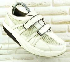 MBT Voi Cuero para mujeres Tonificación Zapatillas Zapatos Caminar Velcro Talla 5.5 UK 39 EU