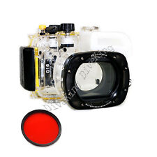 Waterproof Underwater Camera Housing Diving Case  for Canon  G16 67mm Red filter