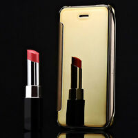 Luxury New Flip Mirror Metal Glossy View Case Cover For iphone Models