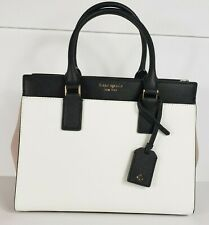 Kate Spade Cameron Medium Satchel Crossbody Bag Warm Beige Black WKRU5852 $369