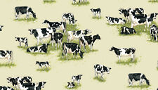 Farm Cows and Calves - cotton fabric Makower Size 55 cm x 50 cm larger available