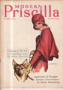 1929 Modern Priscilla October - German Shepard; Halloween cakes; Value of bacon