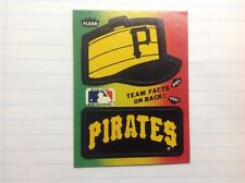 PIRATES . Fleer Baseball logo AND CAP sticker.