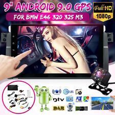 9'' Android 8.0 Car Stereo GPS Sat Radio Nav DAB Touch WiFi Camera For BMW E46