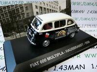 PIT62D 1/43 IXO Altaya  époque ITALIE FIAT 600 Multipla café HAUSBRANDT 1956